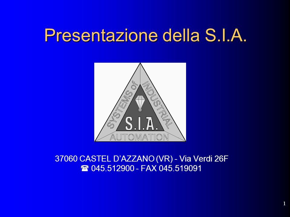 1 Presentazione della S.I.A.