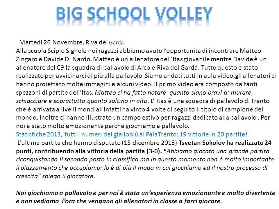 Martedì 26 Novembre, Riva del Garda Alla scuola Scipio Sighele noi ragazzi abbiamo avuto l'opportunità di incontrare Matteo Zingaro e Davide Di Nardo.