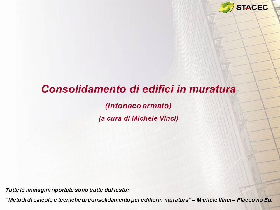 """Consolidamento di edifici in muratura (Intonaco armato) (a cura di Michele Vinci) Tutte le immagini riportate sono tratte dal testo: """"Metodi di calcol"""