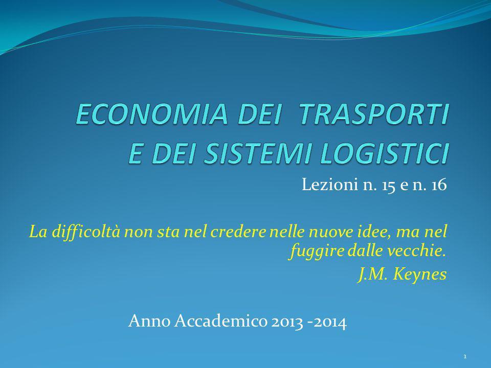 Lezioni n. 15 e n. 16 La difficoltà non sta nel credere nelle nuove idee, ma nel fuggire dalle vecchie. J.M. Keynes Anno Accademico 2013 -2014 1