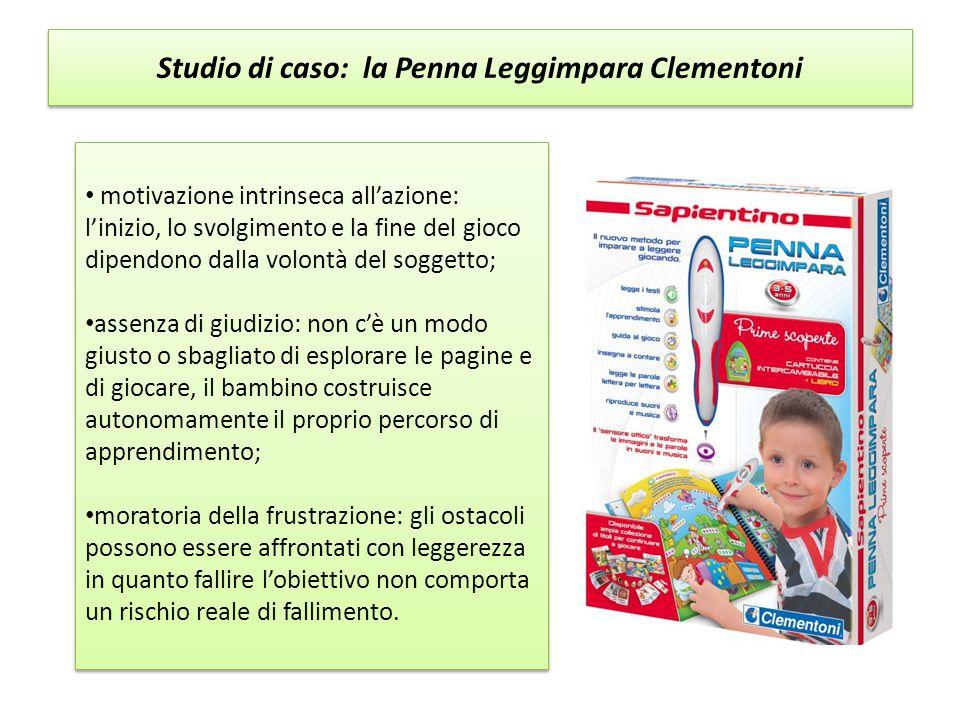 Studio di caso: la Penna Leggimpara Clementoni motivazione intrinseca all'azione: l'inizio, lo svolgimento e la fine del gioco dipendono dalla volontà