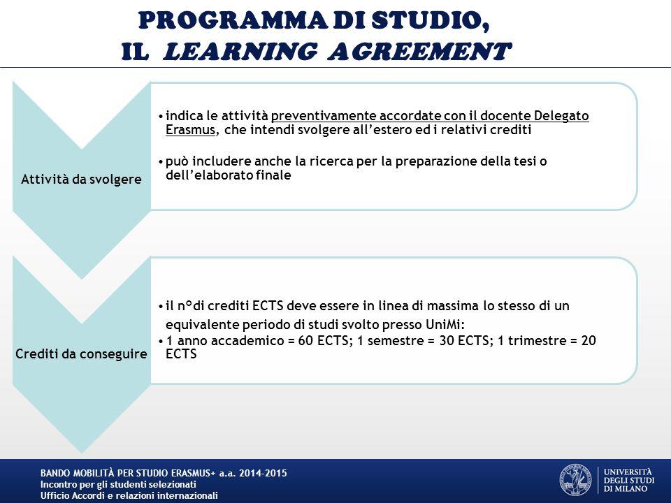 CONGRATULAZIONI E … BUON ERASMUS+ .BANDO MOBILITÀ PER STUDIO ERASMUS+ a.a.