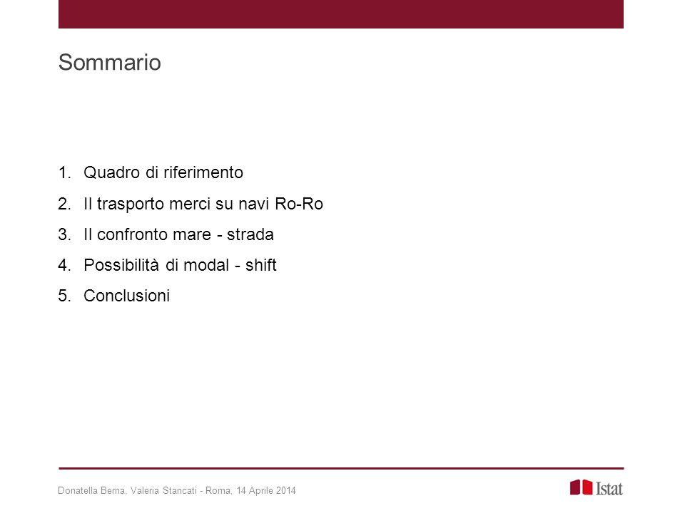 1 Quadro di riferimento LIBRO BIANCO SUI TRASPORTI 2011 - COM(2011)144, marzo 2011 L'Europa ha bisogno di una rete essenziale articolata su corridoi in grado di sostenere, in modo altamente efficiente e poco inquinante, volumi elevati di traffico di merci e passeggeri''.