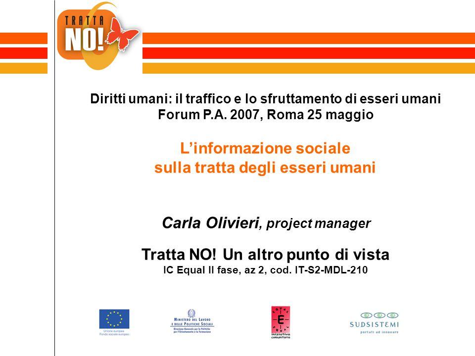 Diritti umani: il traffico e lo sfruttamento di esseri umani Forum P.A.