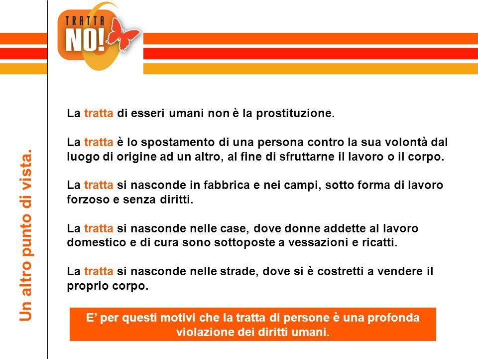 La tratta di esseri umani non è la prostituzione.