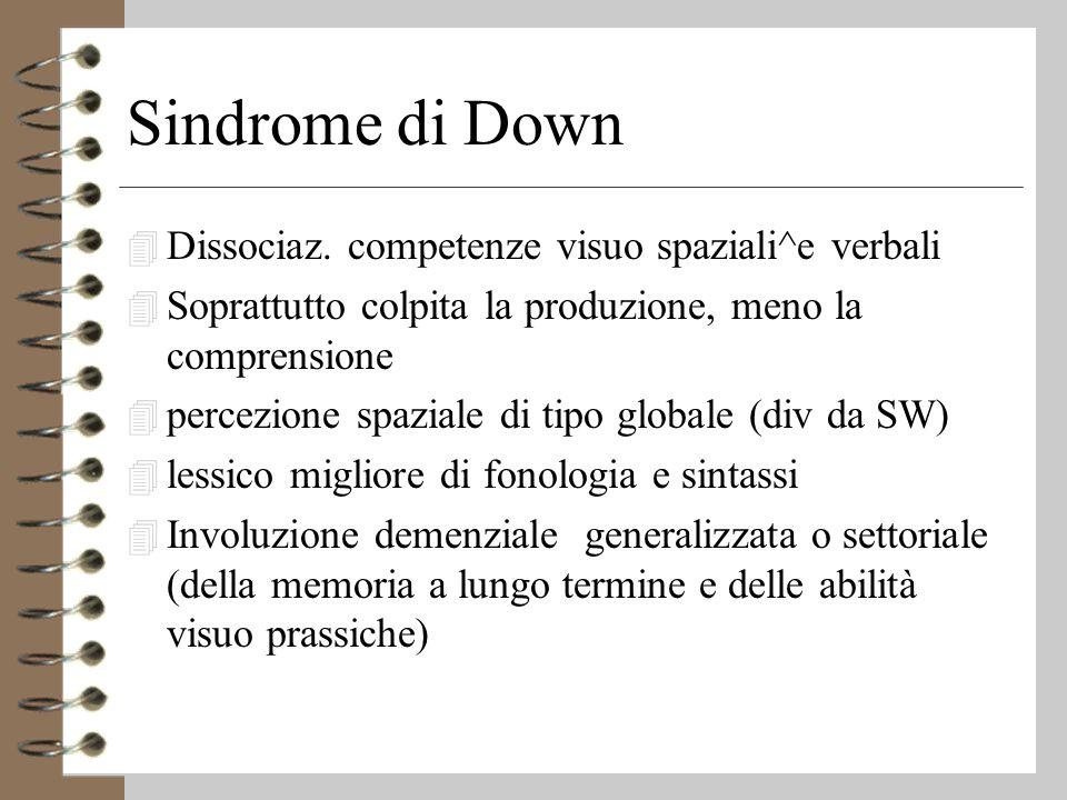 Sindrome di Down 4 Dissociaz.