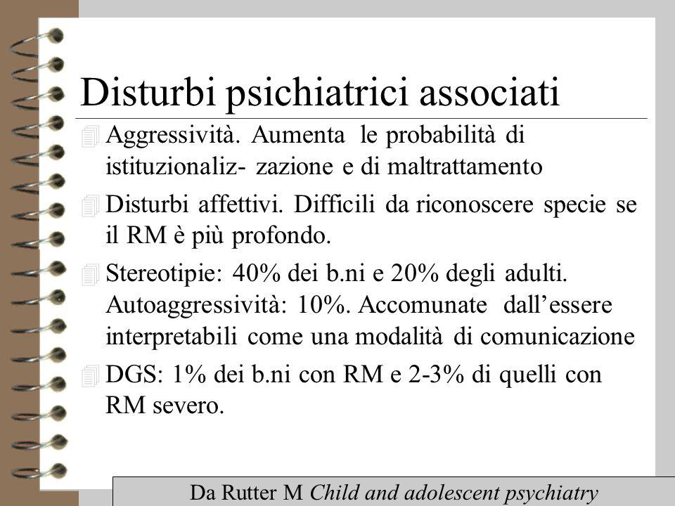 Disturbi psichiatrici associati 4 Aggressività.
