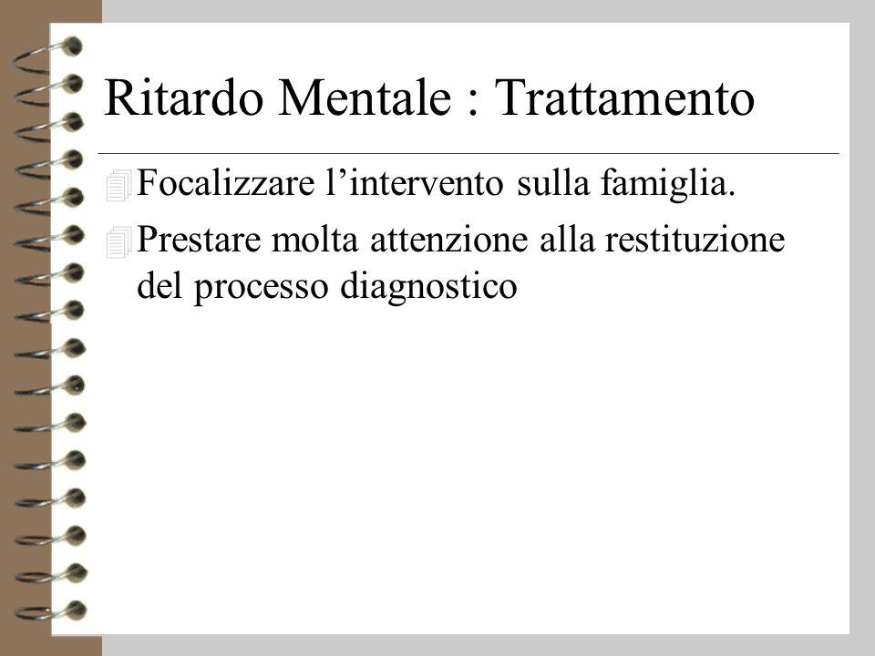 Ritardo Mentale : Trattamento 4 Focalizzare l'intervento sulla famiglia.
