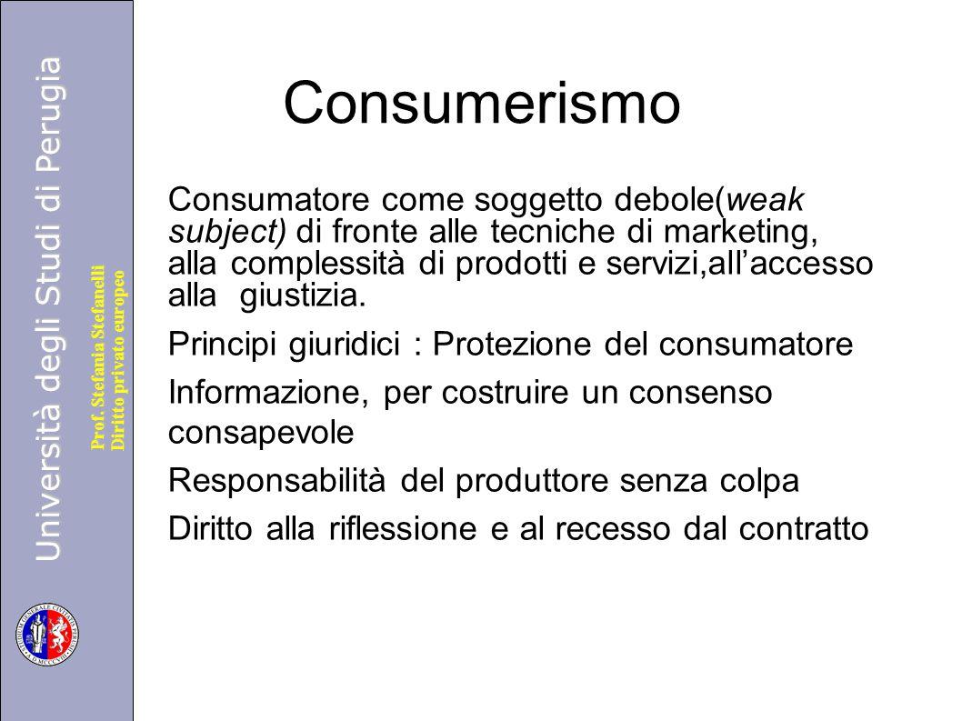 Università degli Studi di Perugia Diritto privato europeo Prof.