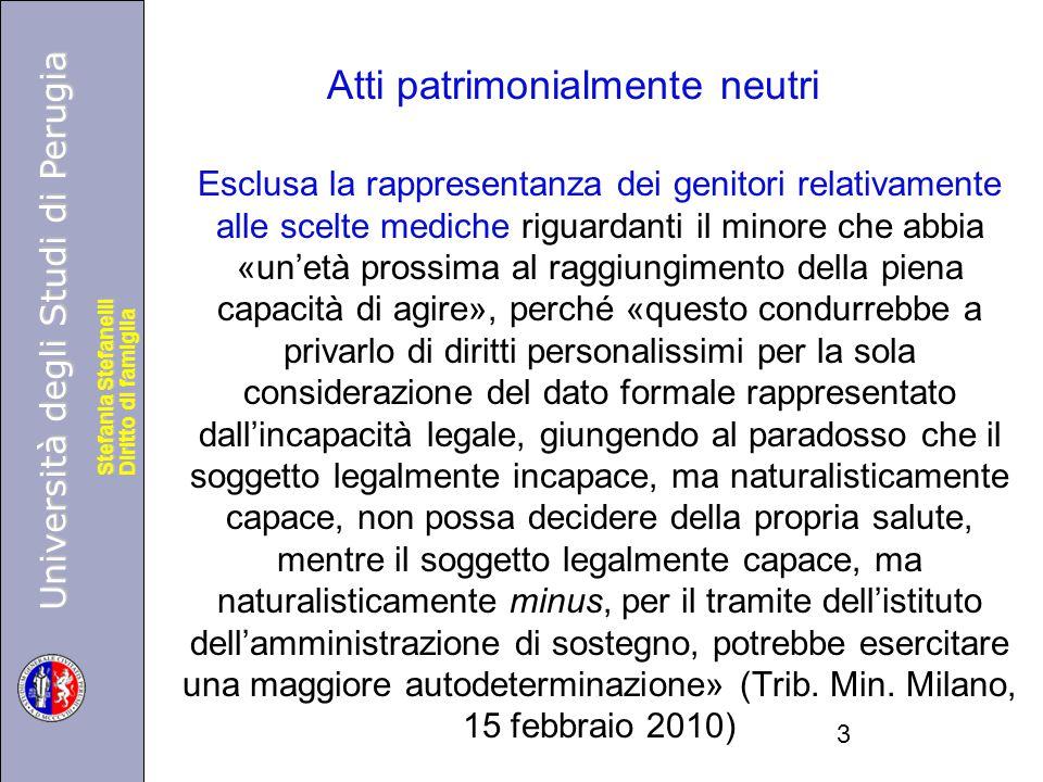 Università degli Studi di Perugia Diritto di famiglia Stefania Stefanelli Università degli Studi di Perugia Diritto di famiglia Stefania Stefanelli Es