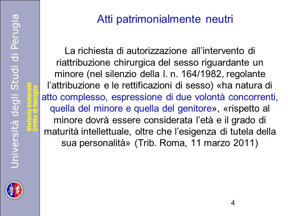 Università degli Studi di Perugia Diritto di famiglia Stefania Stefanelli Università degli Studi di Perugia Diritto di famiglia Stefania Stefanelli La