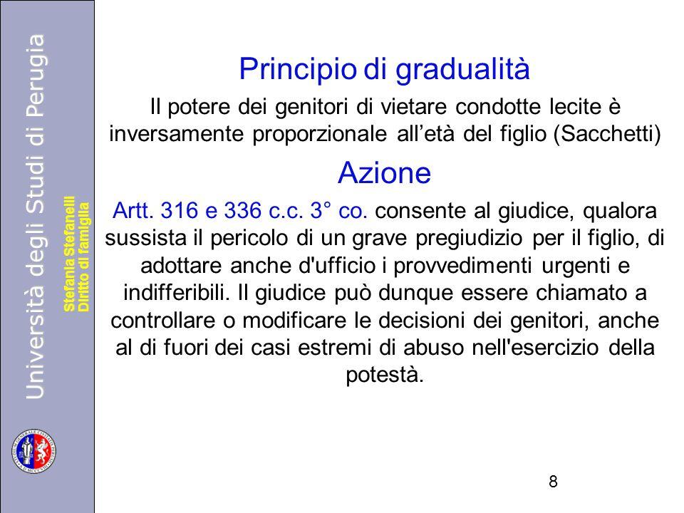 Università degli Studi di Perugia Diritto di famiglia Stefania Stefanelli Università degli Studi di Perugia Diritto di famiglia Stefania Stefanelli Pr