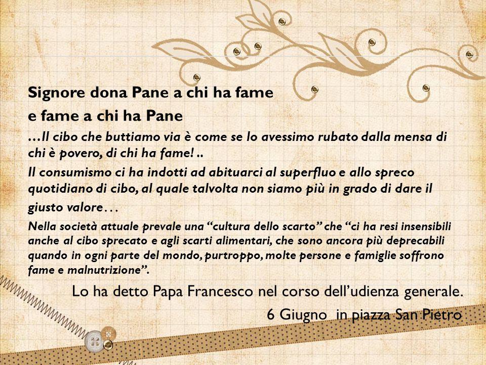  Nella festa del Corpus Domini – ha detto ancora il Papa – abbiamo letto il racconto del miracolo dei pani: Gesù dà da mangiare alla folla con cinque pani e due pesci.