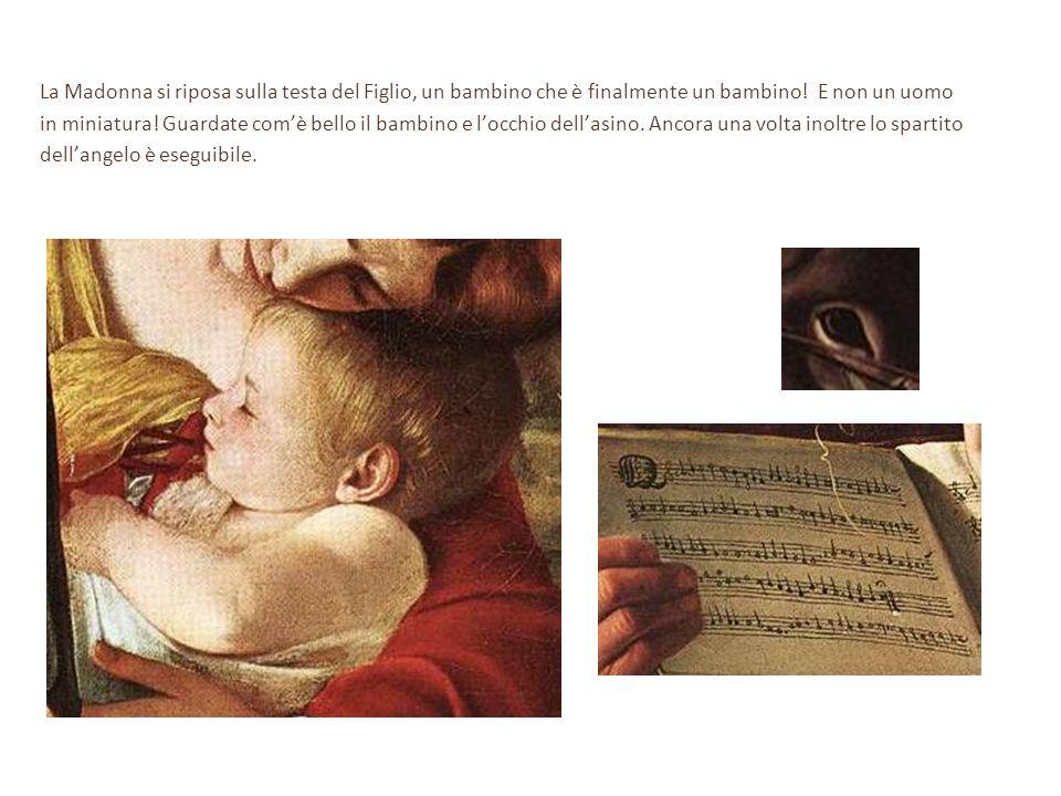 La Madonna si riposa sulla testa del Figlio, un bambino che è finalmente un bambino! E non un uomo in miniatura! Guardate com'è bello il bambino e l'o