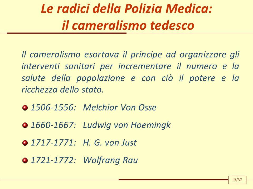 System einer vollständingen medizinischen Polizei 1779-1819 i medici sono raramente in grado di eliminare quelle cause di malattia agenti sulle masse o indipendenti dalla volontà dei singoli per quante precauzioni essi prendano.