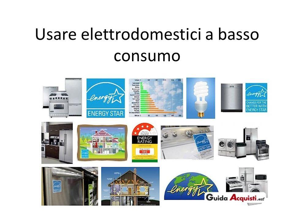 Usare elettrodomestici a basso consumo