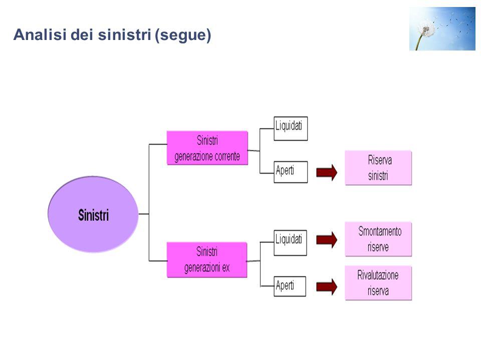 Analisi dei sinistri (segue)