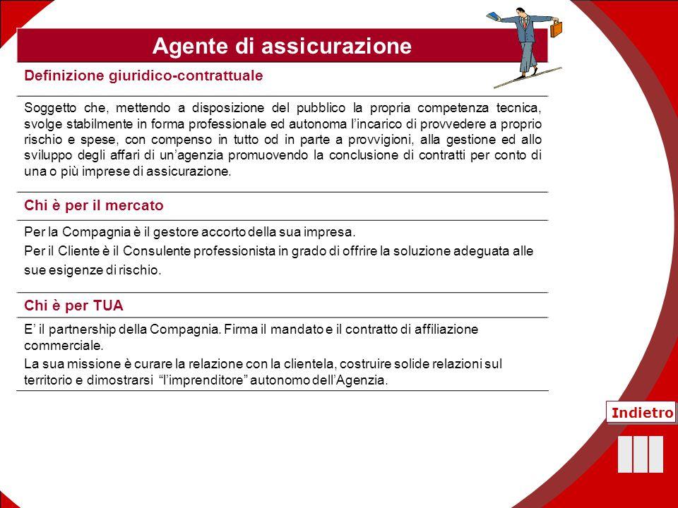 43 Agente di assicurazione Definizione giuridico-contrattuale Soggetto che, mettendo a disposizione del pubblico la propria competenza tecnica, svolge