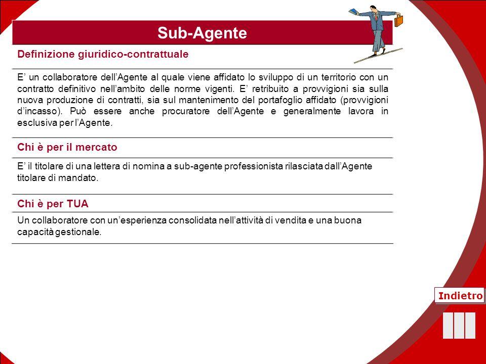 44 Sub-Agente Definizione giuridico-contrattuale E' un collaboratore dell'Agente al quale viene affidato lo sviluppo di un territorio con un contratto