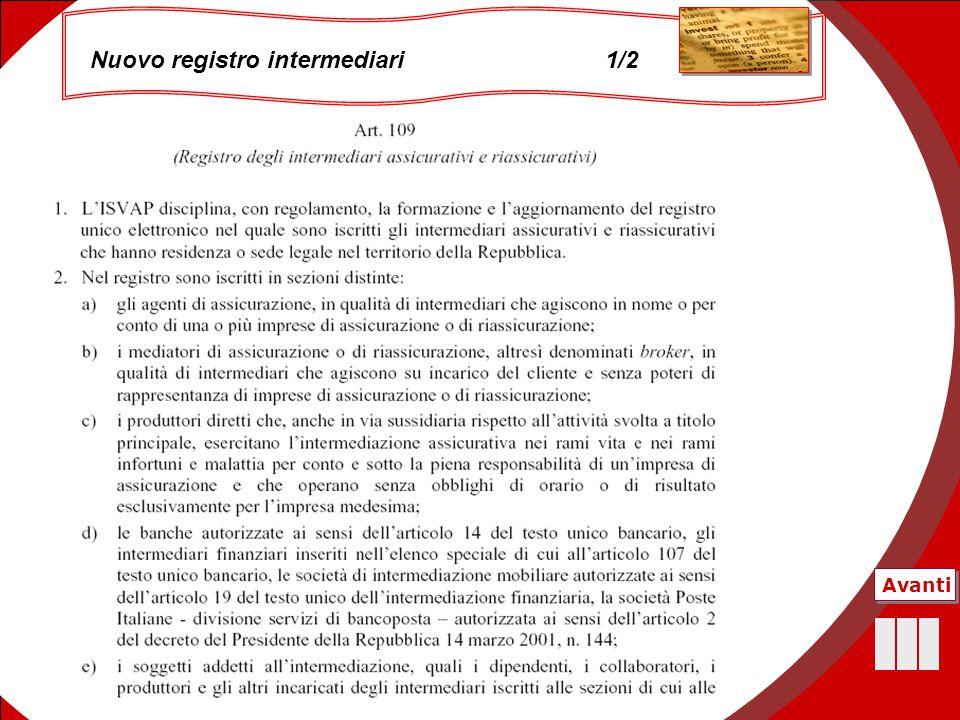 45 Nuovo registro intermediari 1/2 Avanti