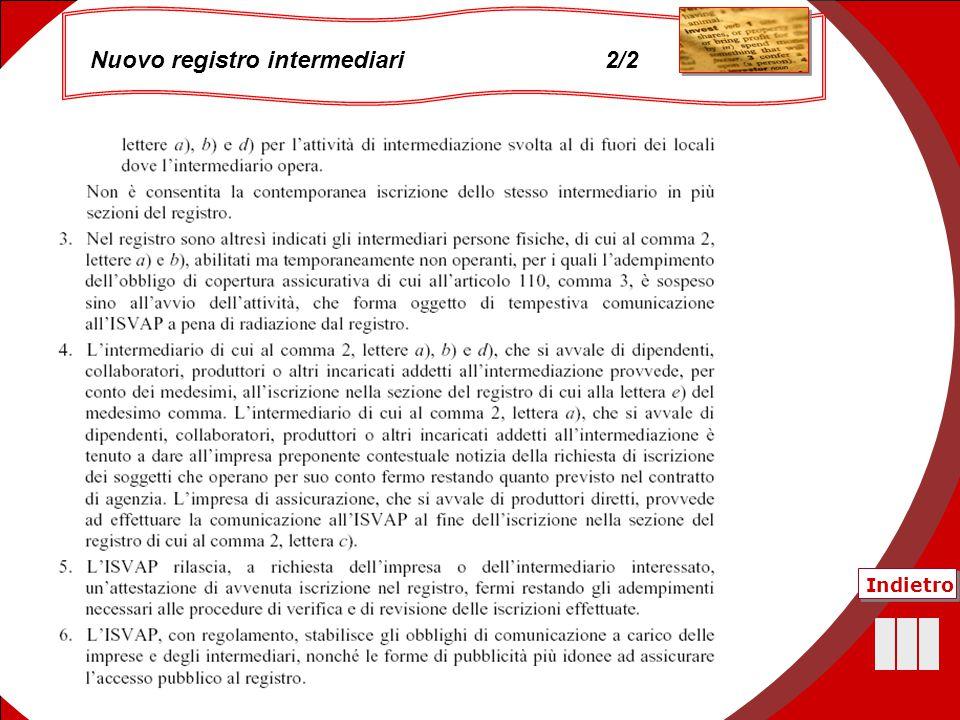 46 Nuovo registro intermediari 2/2 Indietro