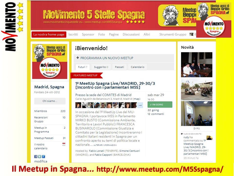 Il Meetup in Spagna... http://www.meetup.com/M5Sspagna/