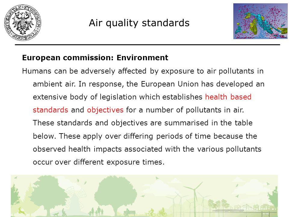 Es: Valutazione qualità aria Impianto produzione MDF (pannello di legno) Principali emissioni: polveri/formaldeide