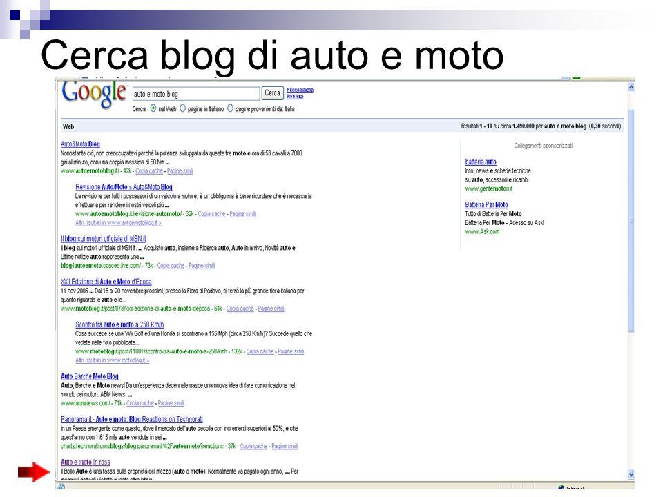 Cerca blog di auto e moto