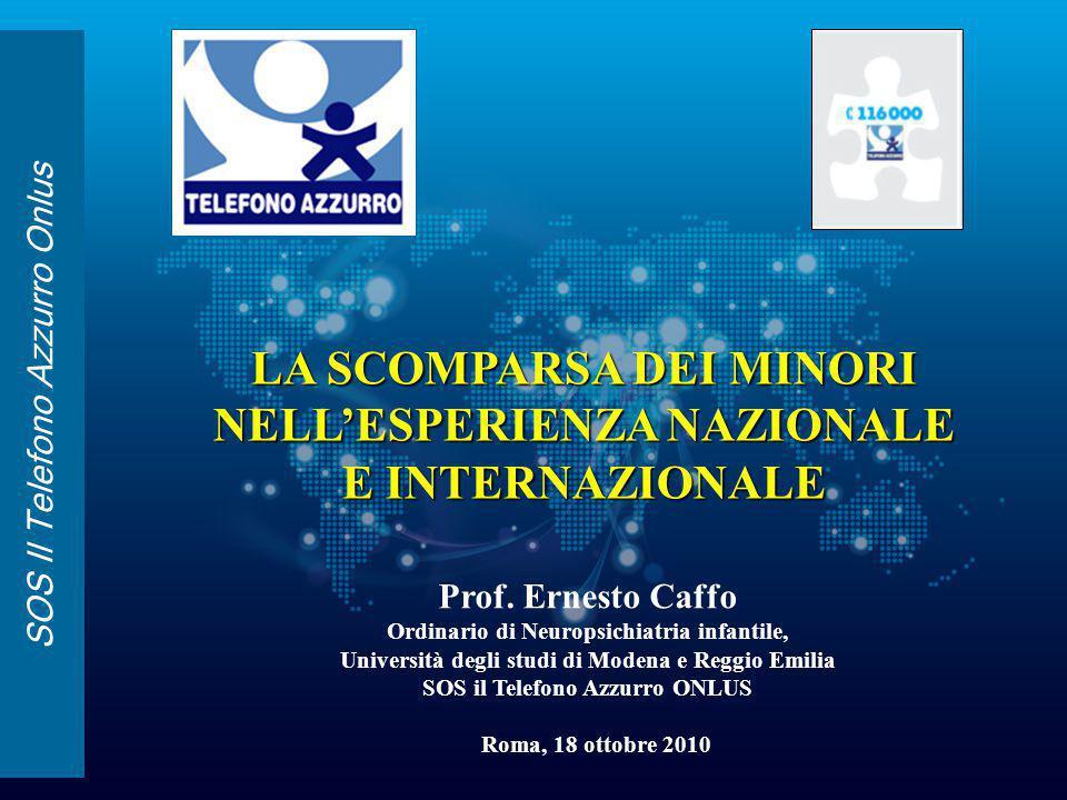 SOS Il Telefono Azzurro Onlus Prof. Ernesto Caffo Ordinario di Neuropsichiatria infantile, Università degli studi di Modena e Reggio Emilia SOS il Tel