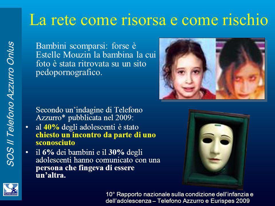 SOS Il Telefono Azzurro Onlus La rete come risorsa e come rischio Bambini scomparsi: forse è Estelle Mouzin la bambina la cui foto è stata ritrovata s