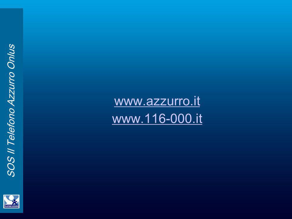 SOS Il Telefono Azzurro Onlus www.azzurro.it www.116-000.it