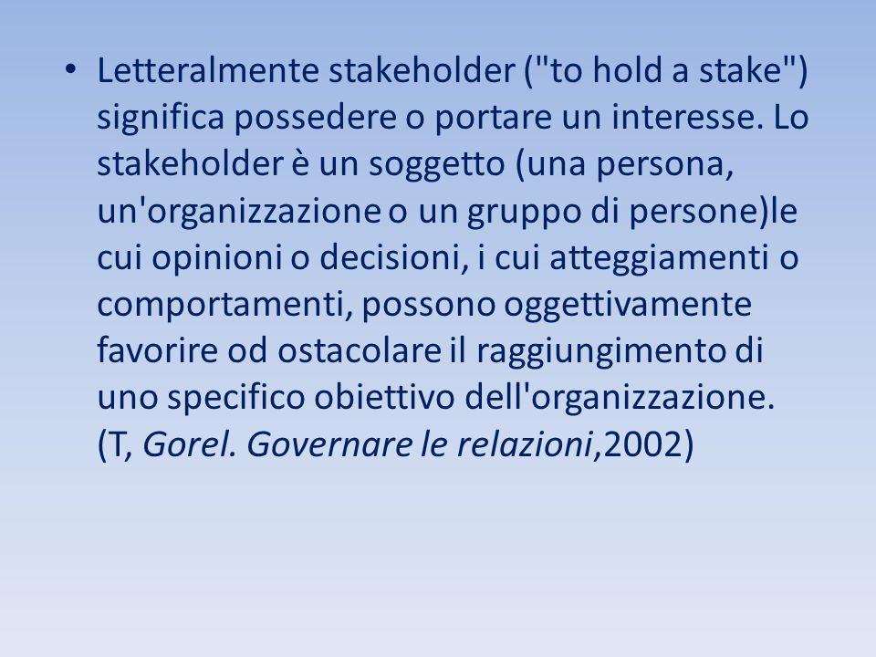 Letteralmente stakeholder (