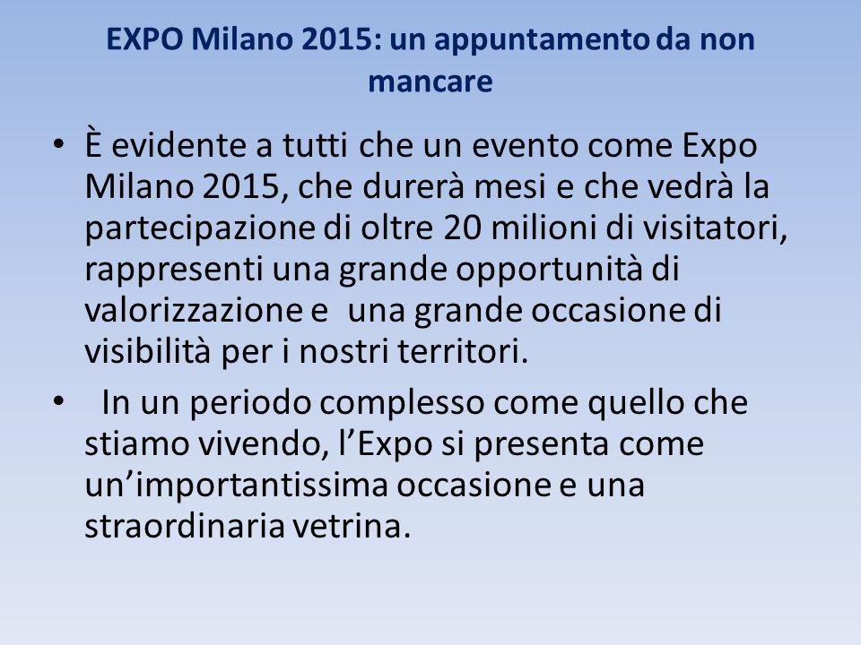 EXPO Milano 2015: un appuntamento da non mancare È evidente a tutti che un evento come Expo Milano 2015, che durerà mesi e che vedrà la partecipazione
