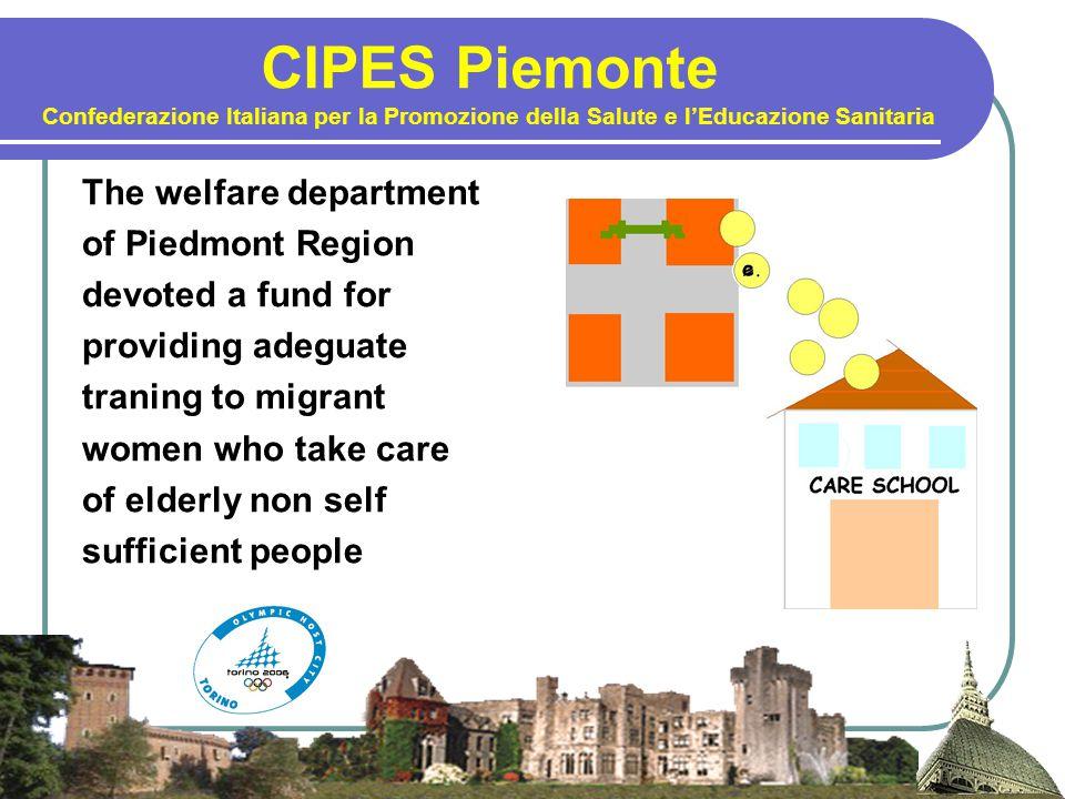 CIPES Piemonte Confederazione Italiana per la Promozione della Salute e l'Educazione Sanitaria The welfare department of Piedmont Region devoted a fun