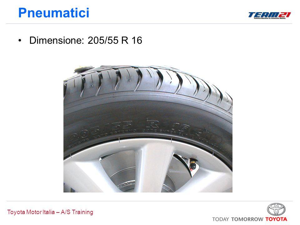 Toyota Motor Italia – A/S Training Pneumatici Dimensione: 205/55 R 16