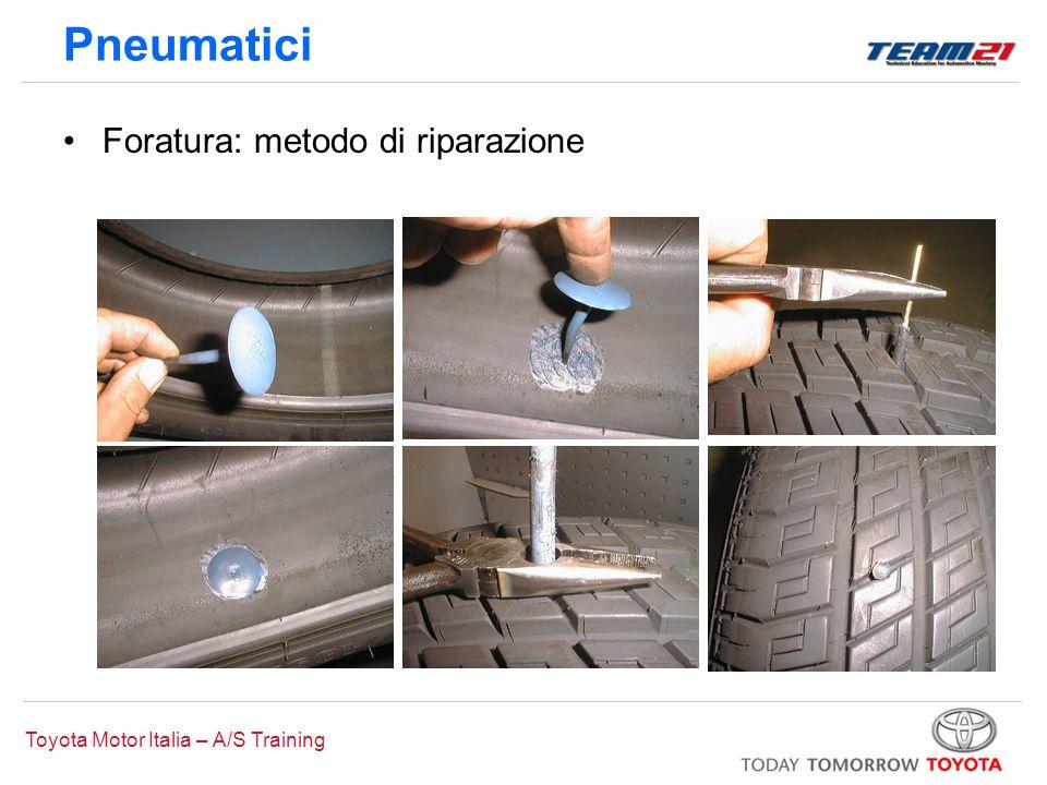 Toyota Motor Italia – A/S Training Pneumatici Foratura: metodo di riparazione