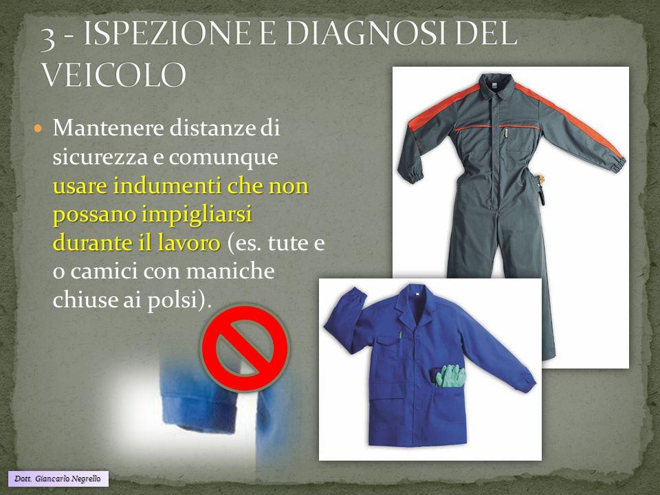 usare indumenti che non possano impigliarsi durante il lavoro Mantenere distanze di sicurezza e comunque usare indumenti che non possano impigliarsi d