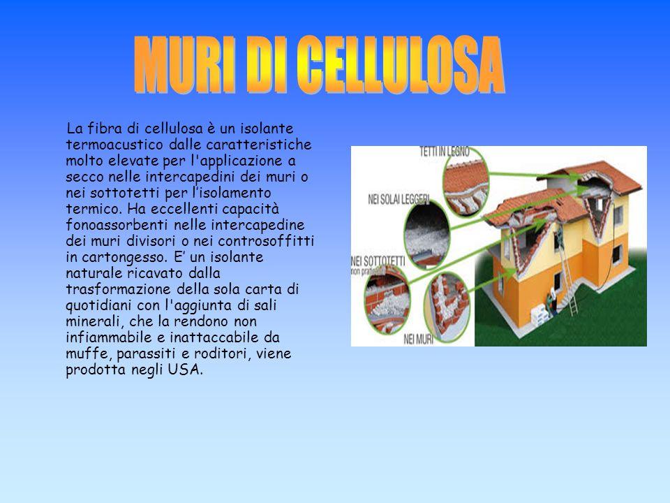 La fibra di cellulosa è un isolante termoacustico dalle caratteristiche molto elevate per l'applicazione a secco nelle intercapedini dei muri o nei so