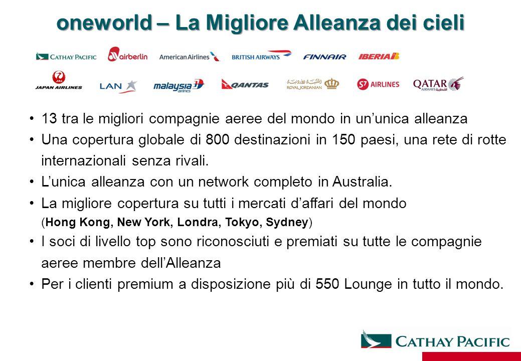13 tra le migliori compagnie aeree del mondo in un'unica alleanza Una copertura globale di 800 destinazioni in 150 paesi, una rete di rotte internazio