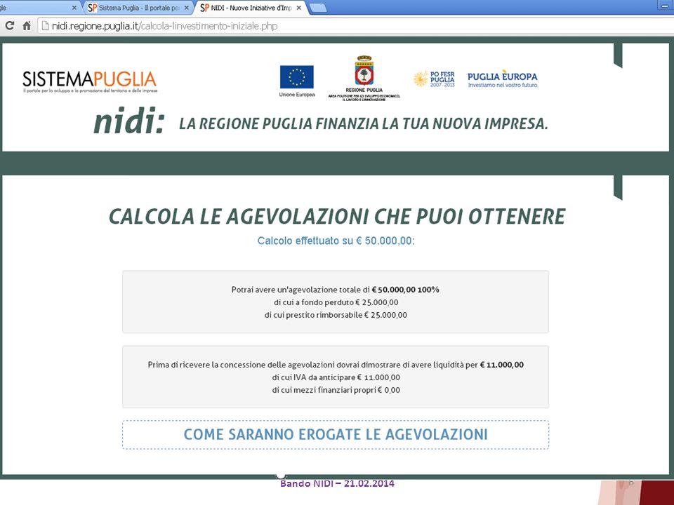 6 Bando NIDI – 21.02.2014