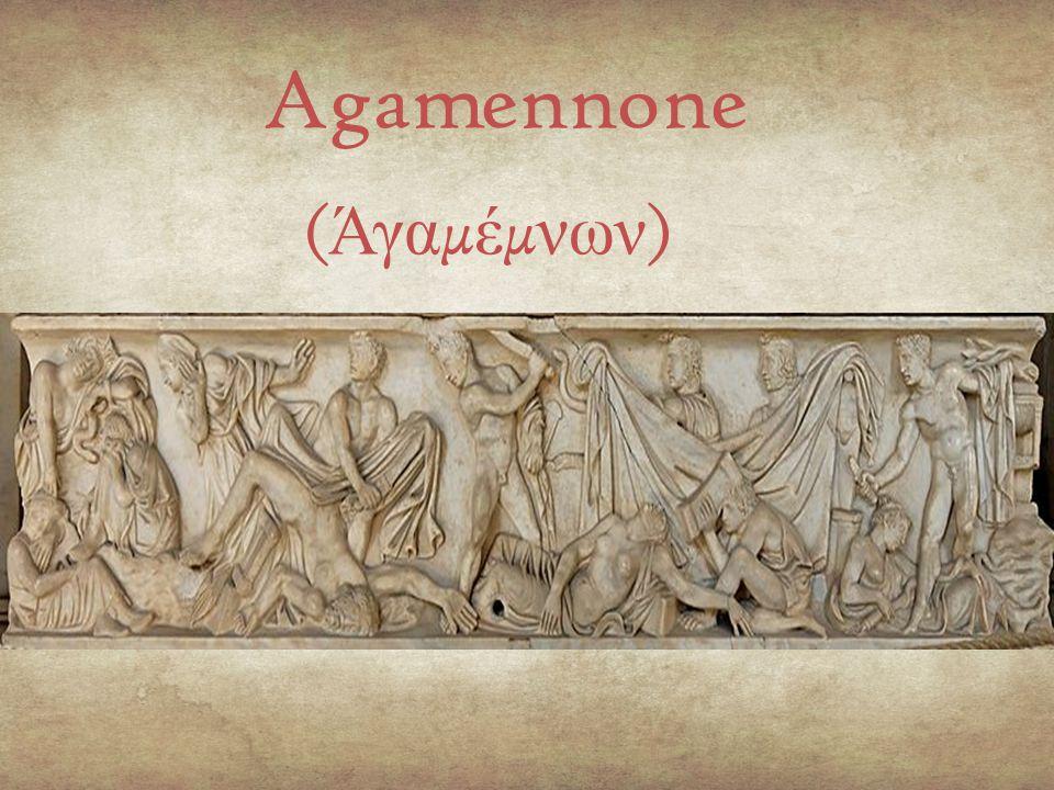 Prologo : Monologo della vedetta appostata sul tetto della casa degli Atridi, che veglia nella notte aspettando di vedere all'orizzonte il segnale luminoso che annunci la caduta di Troia e quindi il ritorno di Agamennone.