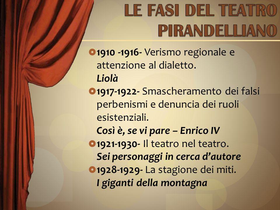 1910 -1916- Verismo regionale e attenzione al dialetto.