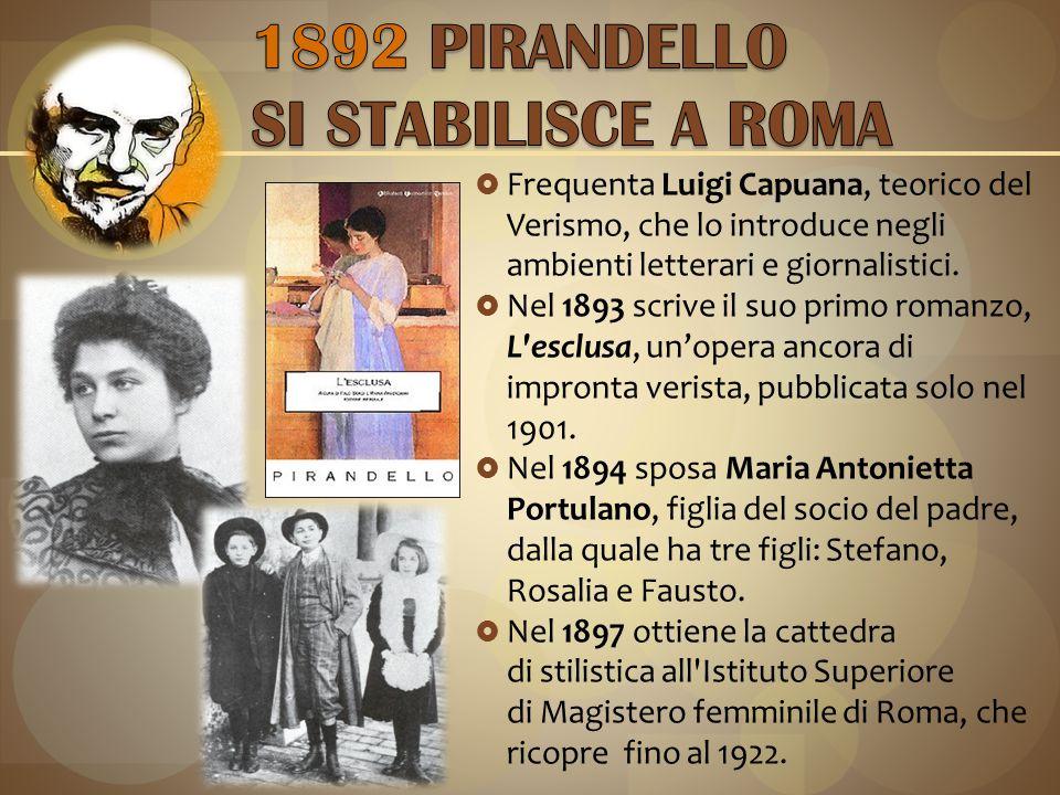  Frequenta Luigi Capuana, teorico del Verismo, che lo introduce negli ambienti letterari e giornalistici.
