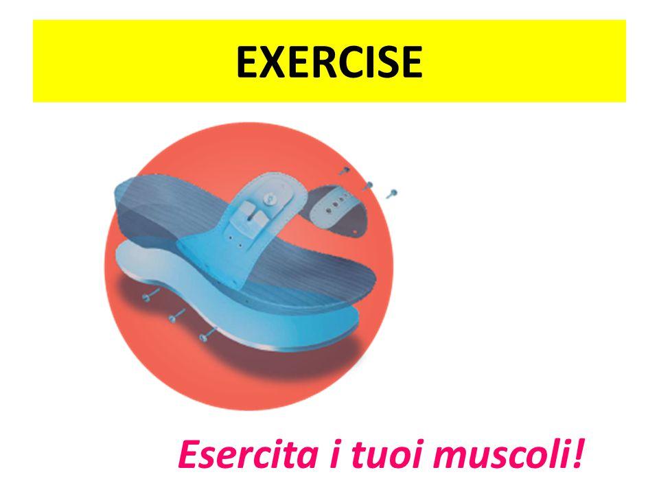EXERCISE Esercita i tuoi muscoli!