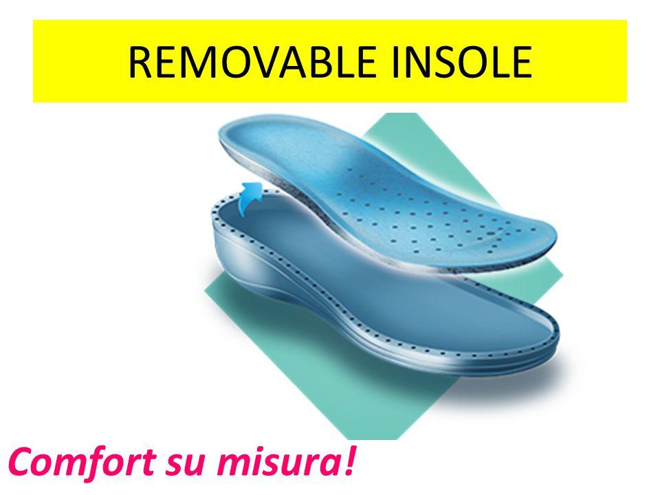 REMOVABLE INSOLE Comfort su misura!