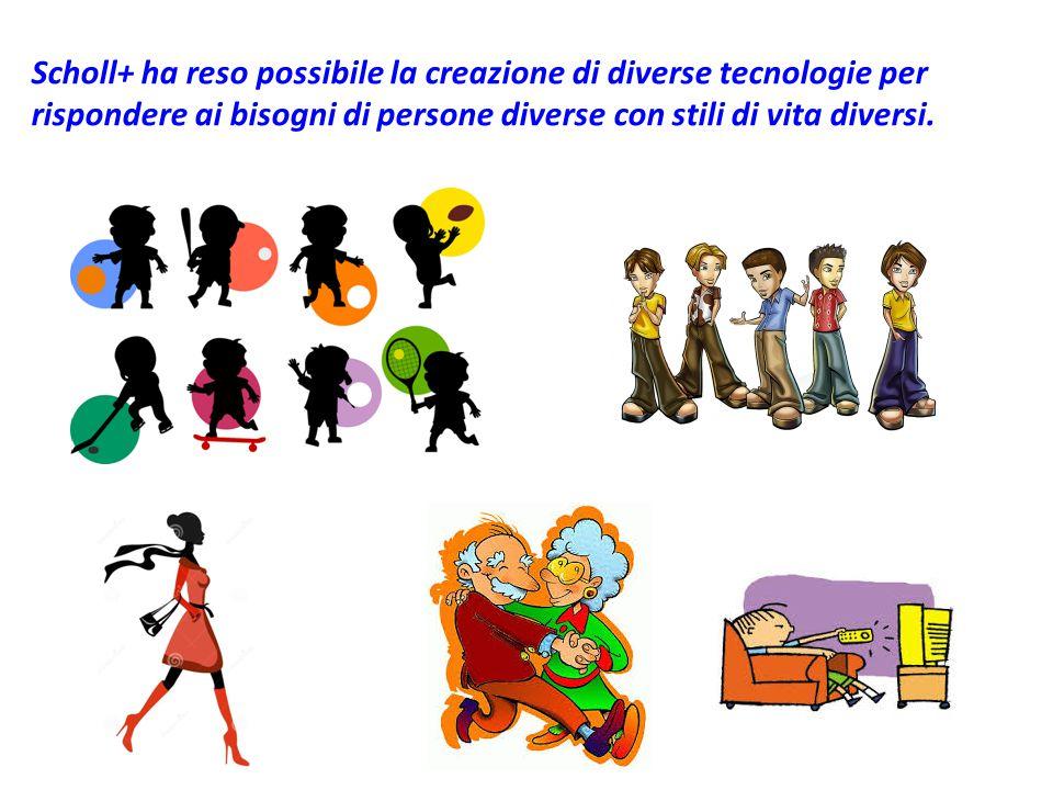 Scholl+ ha reso possibile la creazione di diverse tecnologie per rispondere ai bisogni di persone diverse con stili di vita diversi.