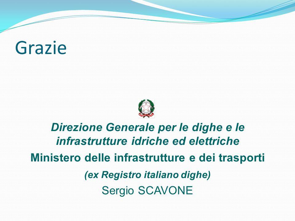 Grazie Direzione Generale per le dighe e le infrastrutture idriche ed elettriche Ministero delle infrastrutture e dei trasporti (ex Registro italiano
