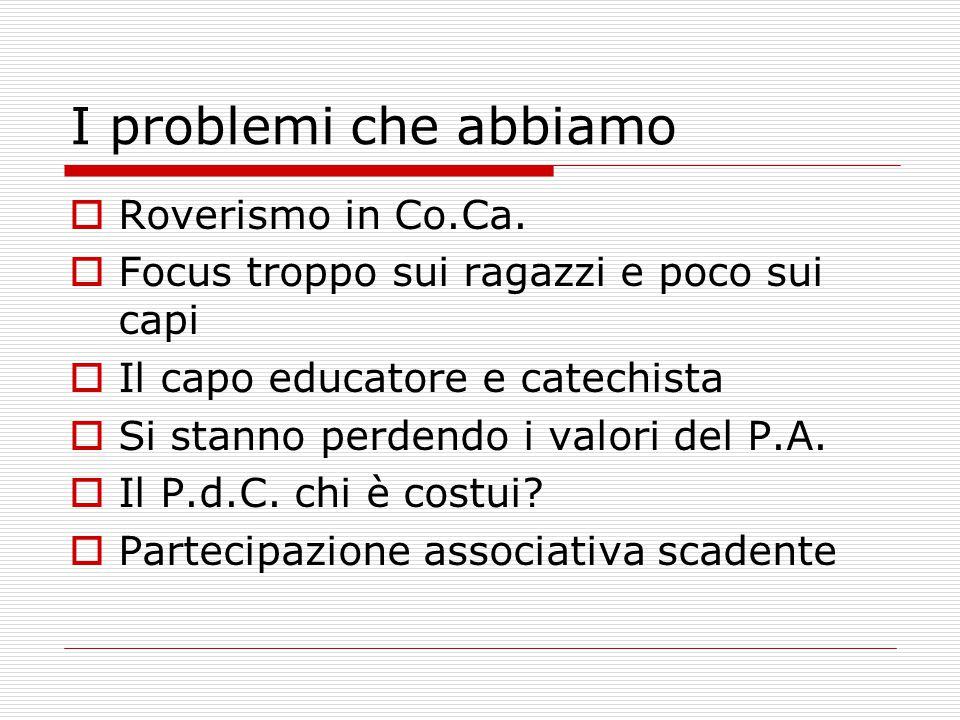 I problemi che abbiamo  Roverismo in Co.Ca.