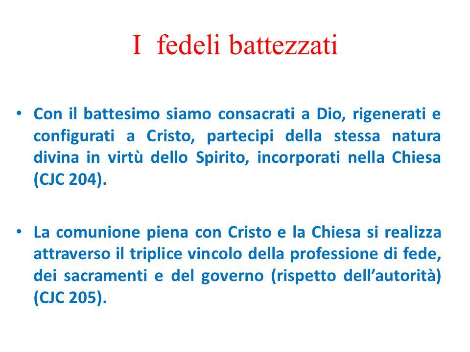 I fedeli laici secolari Ogni battezzato ha il dovere di condurre una vita santa secondo la propria condizione (CJC 210).