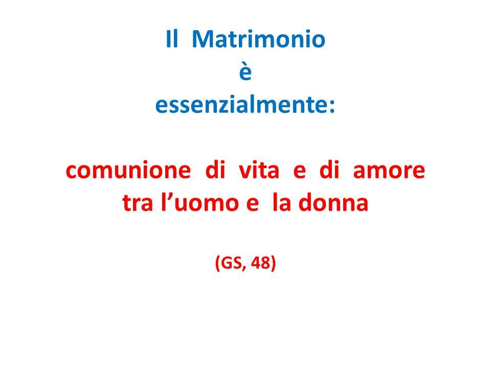 3.Fecondità Il Matrimonio trova il suo coronamento nel dono dei figli.